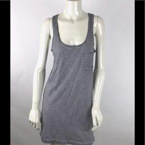 Hi- Line Madewell Tank Top Dress Gray Size Medium
